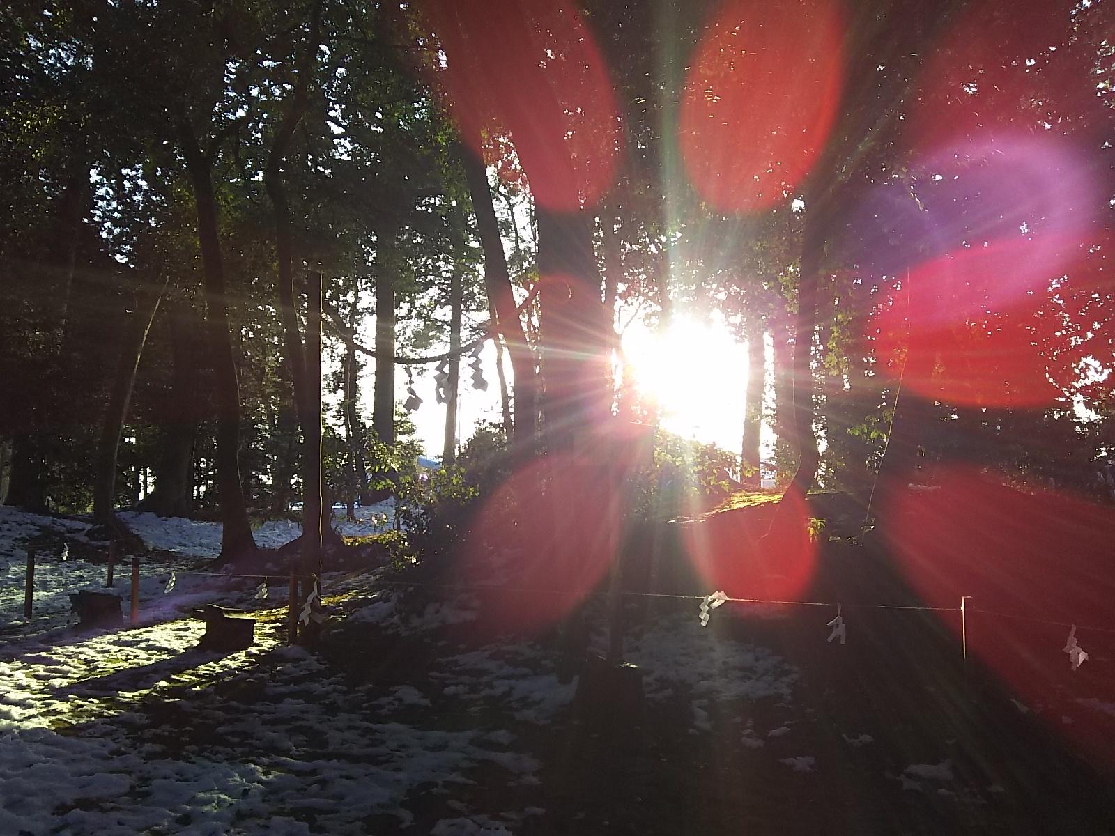 近江八幡は結構雪が残っていますね